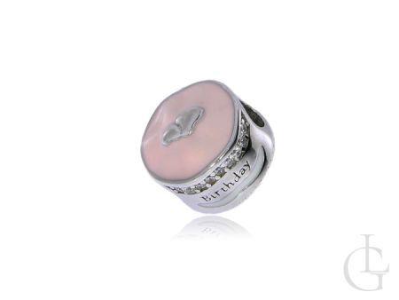 Charms ze srebra pr.0,925 przywieszka do bransoletki modułowej na urodziny HAPPY BIRTHDAY