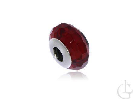 Przywieszka do bransoletki modułowej charms srebro pr.0,925 szkło weneckie czerwony kolor