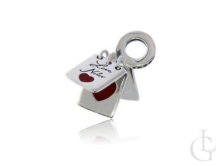 Przywieszka do bransoletki modułowej charms srebro pr.0,925 I LOVE U