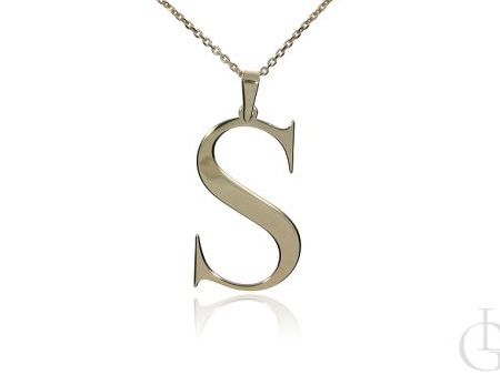 S jak Sandra, Sara, Sabina, Samanta naszyjnik celebrytka łańcuszek z literą S srebro pozłacane