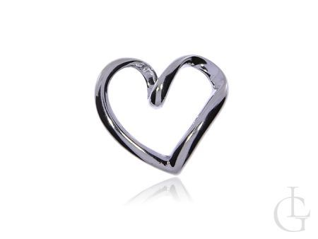 Wisiorek zawieszka ze srebra pr.0,925 serce na prezent