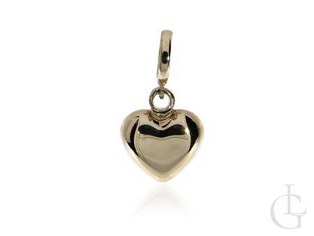 Charms, beads, złota przywieszka pr.0,585 w postaci serduszka
