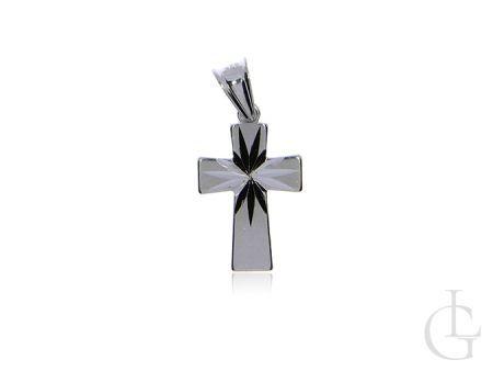 Krzyżyk ze srebra rodowanego pr.0,925 na prezent