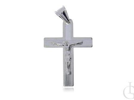 Krzyżyk ze srebra pr.0,925 z wizerunkiem Chrystusa ukrzyżowanego