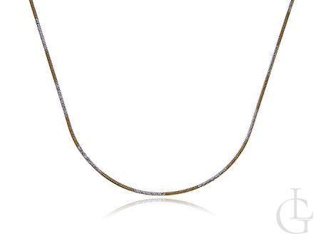 Łańcuszek ze srebra pozłacanego pr.0,925 o splocie linka