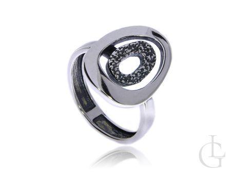 Srebrny pierścionek pr.0,925 z oksydą na prezent