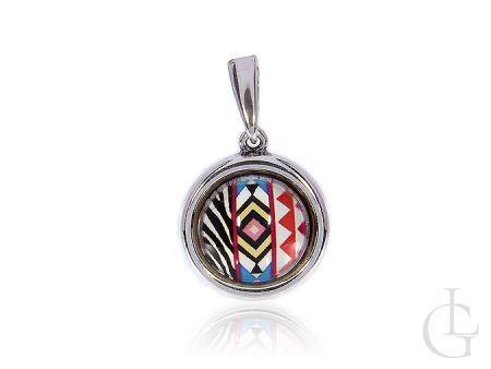 Zawieszka srebrna okrągła na łańcuszek srebro 925