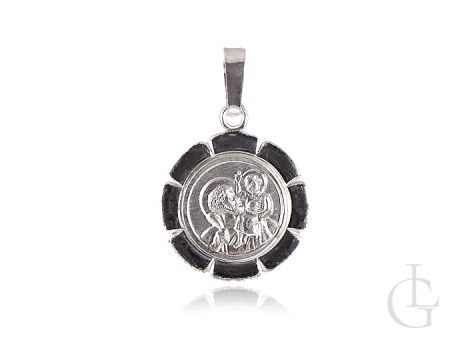Srebrny medalik Święty Józef z maleńkim Jezusem