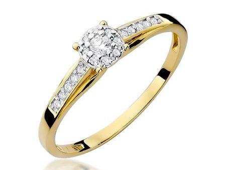Przepiękny pierścionek na zaręczyny z 14 k złota z brylantami