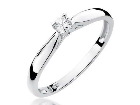 Pierścionek z białego złota pr.0,585 na zaręczyny brylant