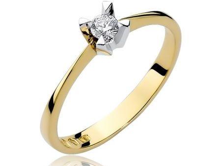 Pierścionek zaręczynowy ze złota pr.0,585 z brylantem