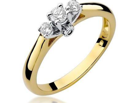 Pierścionek zaręczynowy ze złota pr.0,585 z diamentami