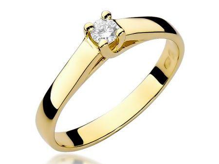 Pierścionek ze złota pr.0,585 z diamentem na zaręczyny