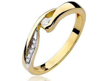 Pierścionek na zaręczyny ze złota pr.0,585 z diamentami