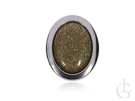 Wisiorek i broszka w jednym srebro pr.0,925 kolor złoto