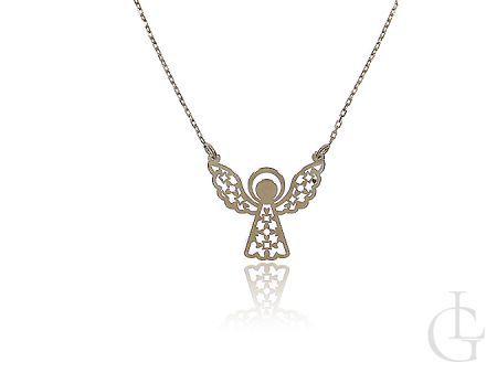Złoty naszyjnik celebrytka aniołek złoto klasyczne 14K 0.585