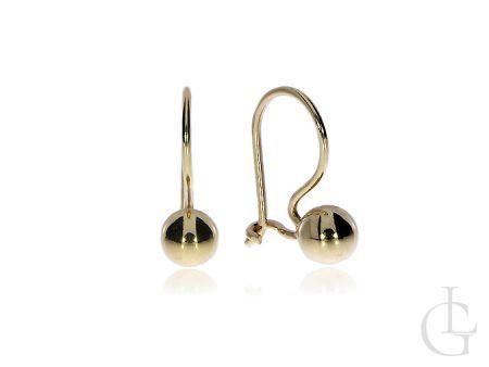 Kolczyki złote pr.0,585 na klasyczne zapięcia kuleczki na prezent