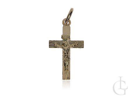 Złoty krzyżyk pr.0,585 z wizerunkiem Jezusa na prezent