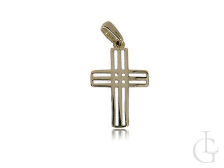 Krzyżyk ze złota pr.0,585 ażurowy na prezent