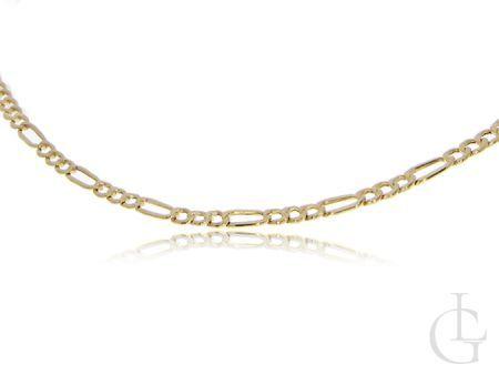 Złoty łańcuszek naszyjnik złoto 14K pełny splot figaro