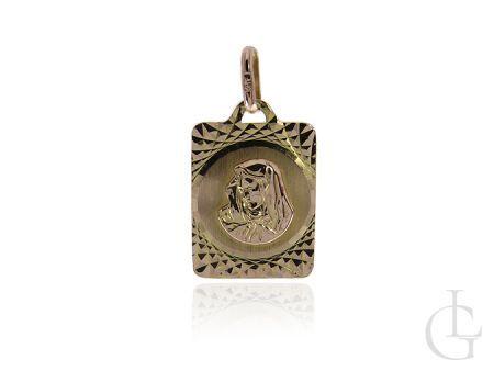 Medalik ze złota pr.0,585 z wizerunkiem Matki Bożej na prezent