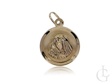 Medalik ze złota z Matką Bożą
