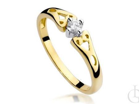 Klasyczny pierścionek zaręczynowy z brylantem