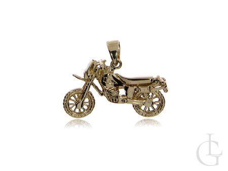 Złoty wisiorek pr.0,585 motor dla fanów motoryzacji na prezent